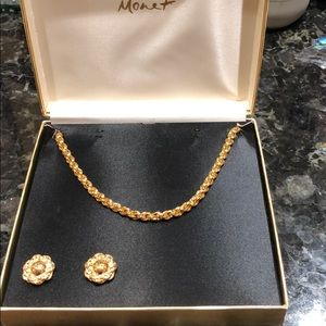 Monet Necklace and Earrings Vintage